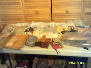 Lot of Vintage Tandy Leather Co Leathercraft Patterns, Pieces, and Catalogs