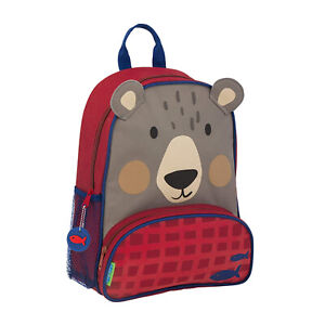 Stephen Joseph Sidekick Kids Backpack School Bag with Adjustable Straps, Bear