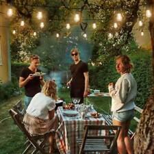 48Ft 15 Led Solar String Ball Lights Outdoor Waterproof Warm White Garden Decor