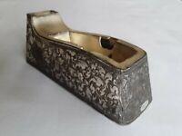 Vtg Tape Dispenser Silver Plated Raised Releif Design Leonard Japan