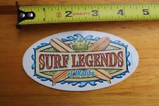 Surf Legends Malibu Dora Balsa Longboard Surfboards V6 Vintage Surfing Sticker