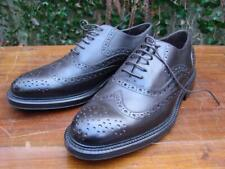 A Testoni Basic 8 NEW Brown Leather Wing Tips 8 Made in Romania