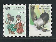 UNITED NATIONS, GENEVA # 138-139 MNH UNICEF, CHILD SURVIVOR