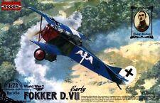 Fokker D Vii temprano (Udet, Berthold, mensajera de eBay, koennemann Aces mkgs) 1/72 Roden