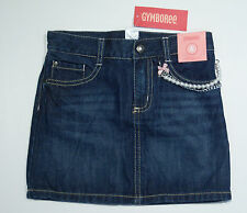NWT Gymboree Tres Fabulous Size 6 Denim Jean Skirt with Pearl Chain Trim