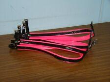Flat Pacing Hopples - Black / Pink Trim PVC