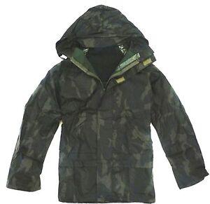 GENTS WATERPROOF WINDPROOF WOOD CAMO JACKET Mens sizes fishing hiking hood coat
