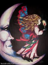 """""""Judi's Moon"""" Inspirational Drunken Angel Artist Marjorie Rose 8"""" X 10"""""""