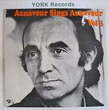 CHARLES AZNAVOUR - Aznavour Sings Aznavour Vol 3 Ex LP