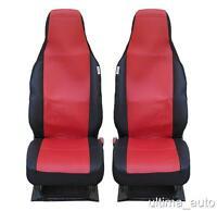 Rouge-Noir Tissu Housses de Siège sur Mesure pour Toyota Aygo,Citroen C1,Peugeot