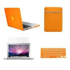 "4in1 Rubberized ORANGE Case for Macbook PRO 13"" +Keyboard Cover +LCD Screen+ Bag"