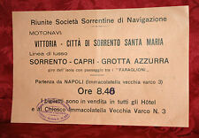 Riunite Società Sorrentine di Navigazione 1930 Orari ed Escursioni