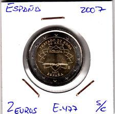 E477 MONEDA 2 EUROS SIN CIRCULAR 2007 TRATADO DE ROMA ESPAÑA