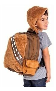 Star Wars Chewbacca School Backpack w/ Removable Hood Disney Store - New w/ Tags