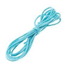 Light Blue Jewellery Beading 100% Cotton Cord 1mm - 1 Metre Length (A96/2)
