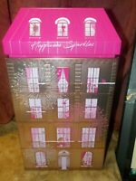 Lancome Pink Collectors Tin Storage Canister Eiffel Tower Paris Mid Century Styl
