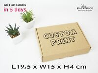 Postal Boxes Cardboard Mailing Cartons Small Packaging Folding Shipping Die Cut