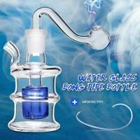 """Hookah Water Glass Bongs Pipe Smoking Pipe Shisha Tobacco Bucket Shape 2.4"""""""