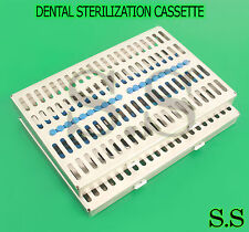 2 DENTAL AUTOCLAVE STERILIZATION CASSETTE RACK BOX TRAY FOR 20 INSTRUMENT
