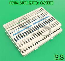 2 Dental Autoclave Sterilization Cassette Rack Box Tray For 20 Instrument