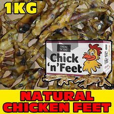 1KG KILO LARGE DRIED NATURAL TASTY CHICKEN FEET DOG PET CHEW FOOD SNACK TREAT