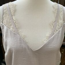 NWOT H&M Ivory Beige Lace Blouse Top Tank Camisole Size 10