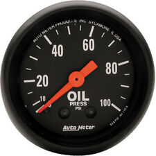 "Auto Meter 2604 Z-Series Mechanical Oil Pressure Gauge 2 1/16"" (0 - 100 psi)"