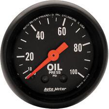 """Auto Meter 2604 Z-Series Mechanical Oil Pressure Gauge 2 1/16"""" (0 - 100 psi)"""