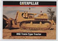 1993 TCM Caterpillar Earthmovers #76 D9G Track-Type Tractor Non-Sports Card 0b6