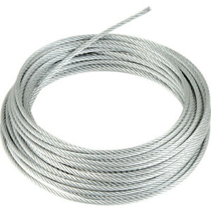 GALVANIZED STEEL WIRE ROPE METAL CABLE 1mm 2mm 3mm 4mm 5mm 6mm 8mm 10mm 12mm