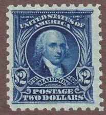 Us Scott #479 Blue $2 James Madison, Mint Nh