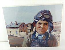 Pilot Boy Print  Artist - Odon Hullenkremer Photo Reproduction NM Taos Santa Fe