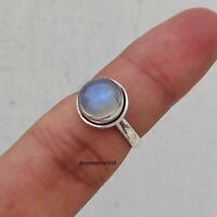 Solid 925 Sterling Silver Ring Anxiety Silver Ring Handmade Moonstone Ring ++++