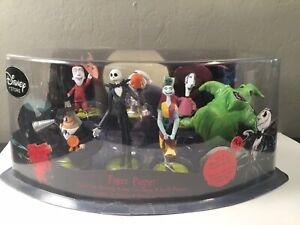 Disney Store NIGHTMARE BEFORE CHRISTMAS Jack Skellington 7 Figure Playset