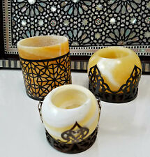 Tea Light Alabaster Candle Holder, Egyptian Lamps, Moroccan Lamps