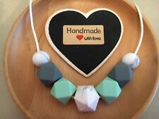 Silicone Sensory (was teething) Necklace for Mum Jewellery Beads Aus Gift Sale