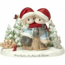 Precious Moments Limited Edition Winter Couple on Stump Figurine 181010