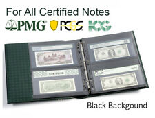 25 Pages For Certified Graded PMG PCGS Bank Notes Currency Collection 2S BLACK