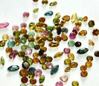 Wholesale Lot 110 Pieces Natural Faceted Multi Tourmaline Calibrated Mixed Shape