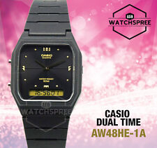 Casio Aw-48he-1av Watch Black Digital Analog 50m Water Resistant Classic