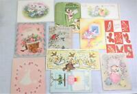 11 birthday vintage greeting cards 1950s cat dog bird butterfly animals Hallmark