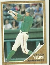2011 Topps Heritage CHRISTIAN YELICH RC ROOKIE Brewers Greensboro Grasshoppers