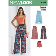 LOOK 6381 Misses' Knit Skirts and Pants or Shorts Sewing Kit, Size A