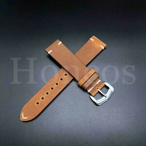 18-22 MM Genuine Soft Leather Watch Band Strap Vintage Oil Fits for Rolex Tudor