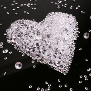 DECORATIVE SCATTER CRYSTALS Wedding Party Centrepiece Acrylic Diamonds Sparkle