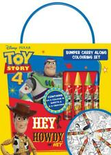 Disney Pixar Toy Story 4 Bumper Carry Along Colouring Set Travel Activity Kids