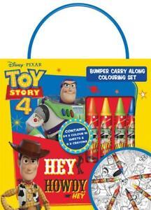 Disney Pixar Toy Story 4 Bumper Carry Along Colouring Set Travel Activity Kids