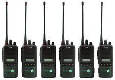 ICOM IC-F44GS UHF 4 WATT WALKIE-TALKIE TWO WAY RADIOS & COVERT EARPIECES x 6