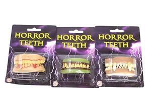 Halloween Accessories Horror Teeth Dracula Vampire Monster 3 Sets