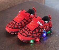 Scarpe bambini Luci Spiderman Led Sneakers Sport Light shoes 6d8fdf2c31f